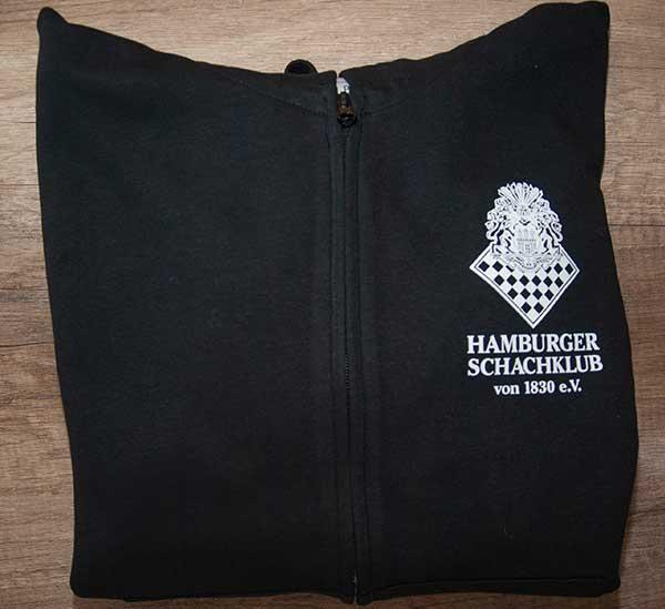 Kapuzenpullie schwarz m. Logo