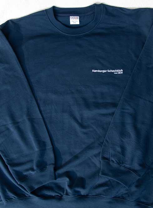Sweatshirt blau U-Boot-Ausschnitt