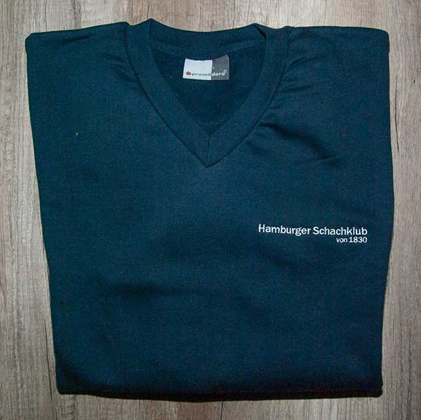 Sweatshirt blau V-Ausschnitt