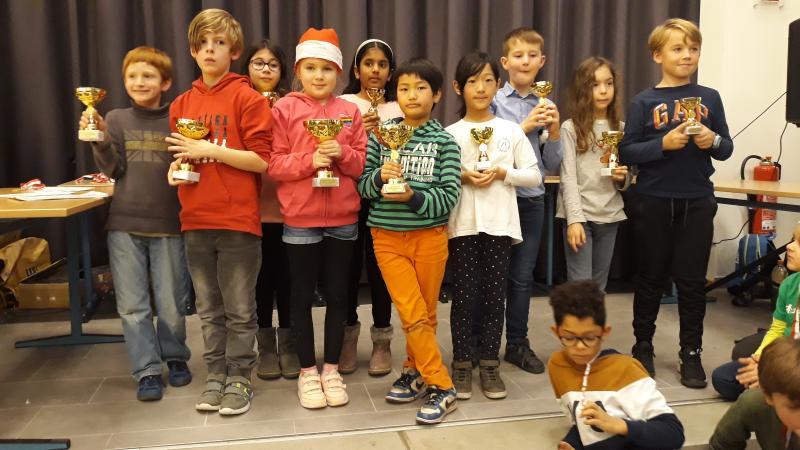 Grundschultag Pokalträger Gruppe 1 (3.-4. Klasse) Foto: Bessie Abram