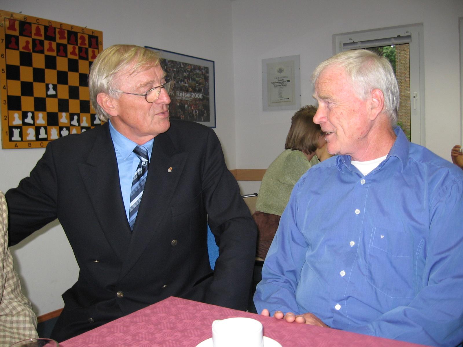 Hans Krieger (li.) und Claus Langmann (re.) | Foto: HSK Archiv